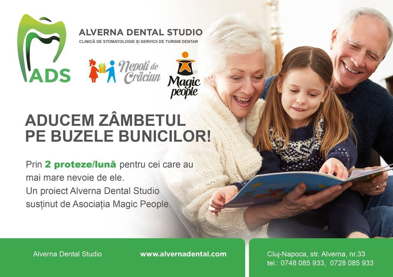 Asociatia Magic People si Alverna Dental Studio le ofera un zambet frumos bunicilor clujeni