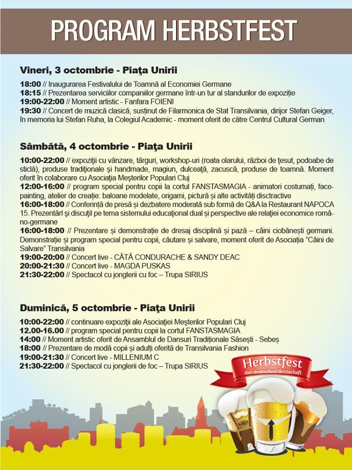 Oktoberfest de Cluj – Festivalul de Toamna al Economiei Germane, in acest weekend in Piata Unirii