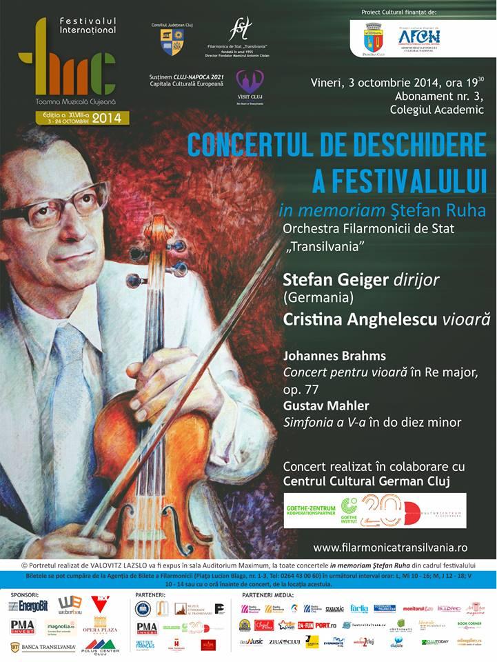 """Incepe cel mai longeviv festival de muzica clasică din România – """"Toamna Muzicala Clujeana"""""""