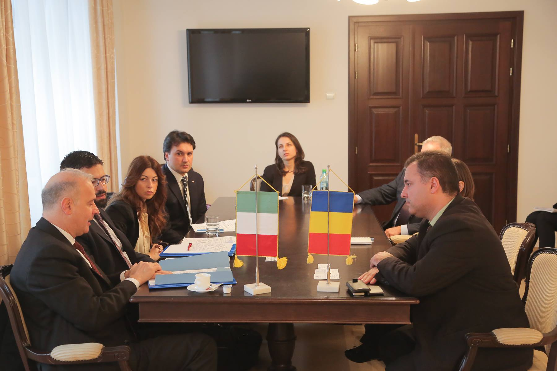 delegatie ambasada italiei la CJ Cluj