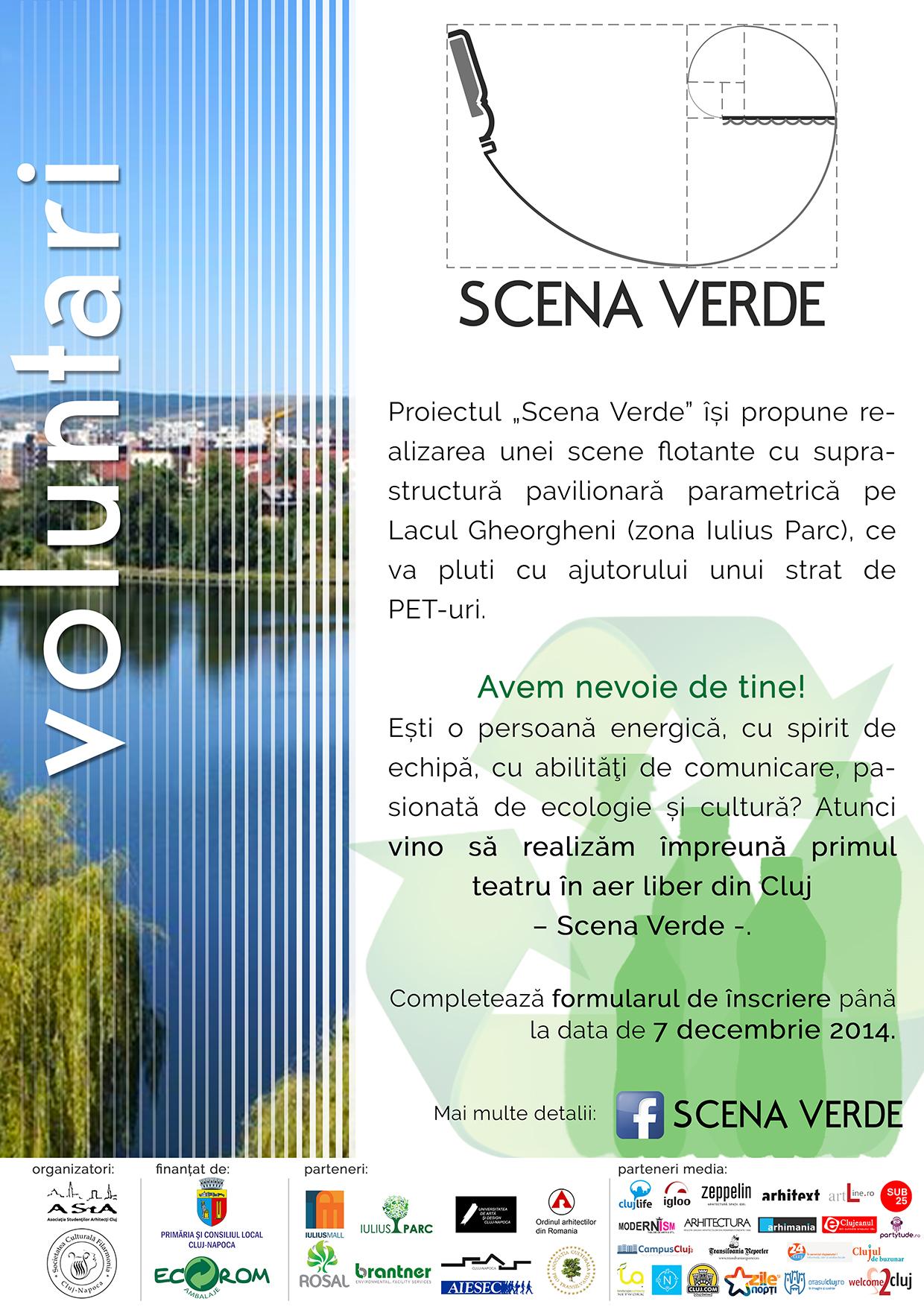 Fii voluntar la Scena Verde! Împreună reciclăm PEnTru cultură!