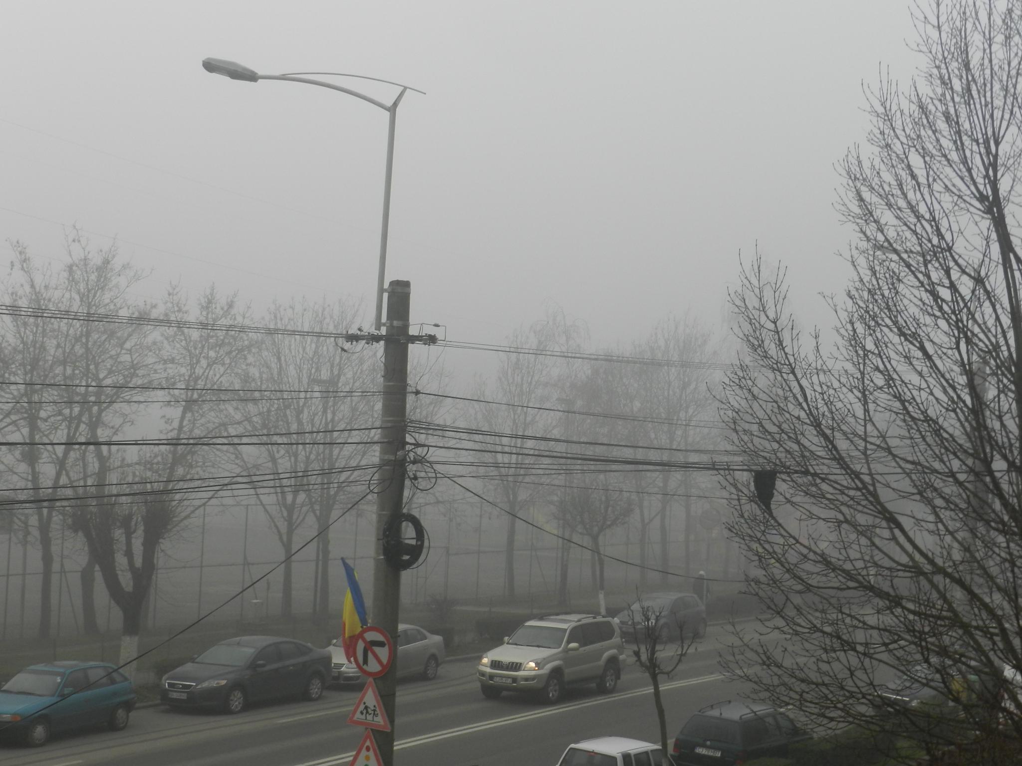 Cod galben de ceață în județul Cluj