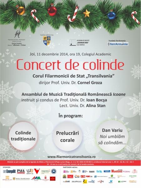 concert colinde corul filarmonicii 19 dec 2014