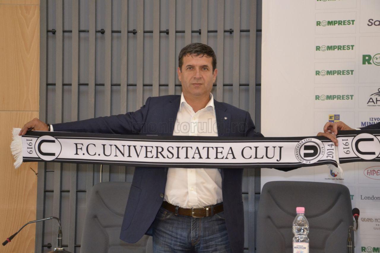 """Eugen Pârvulescu pleacă de la """"U"""" Cluj și se întoarce la Pandurii"""