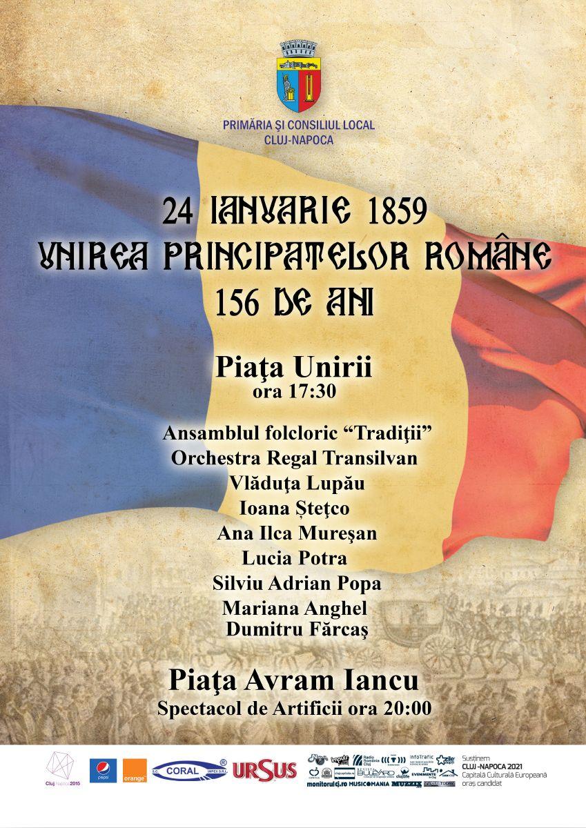 Ziua Unirii Principatelor, sarbatorita la Cluj-Napoca. Vezi programul evenimentelor