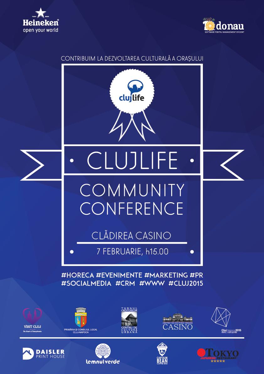 ClujLife Community Conference, sambata, 7 februarie, la Casino