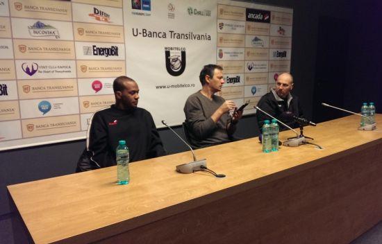 conf de presa U BT Cluj turner, cristescu si tenter