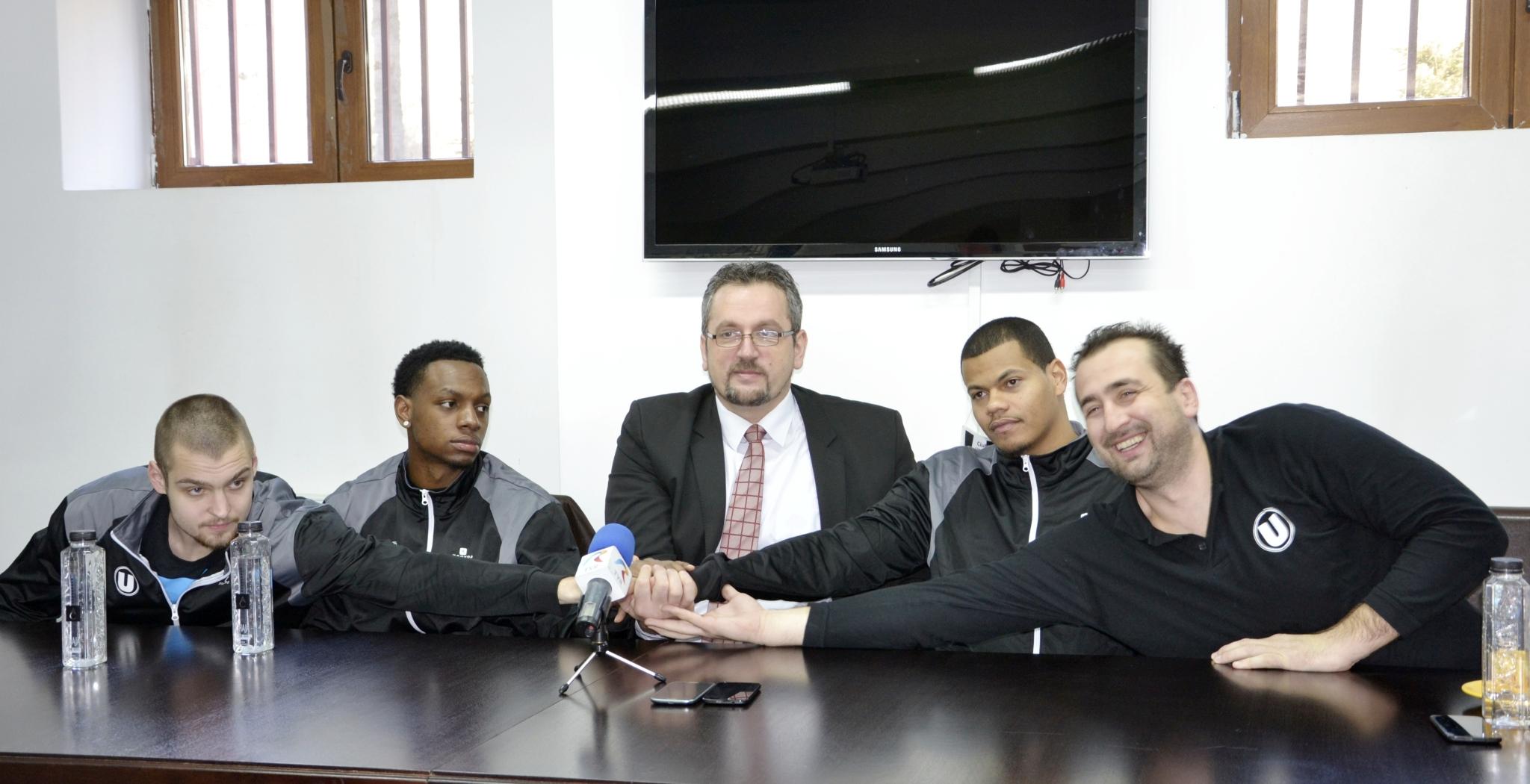 prezentare 3 jucatori baschet masculin CSU Cluj 15 ian 2015