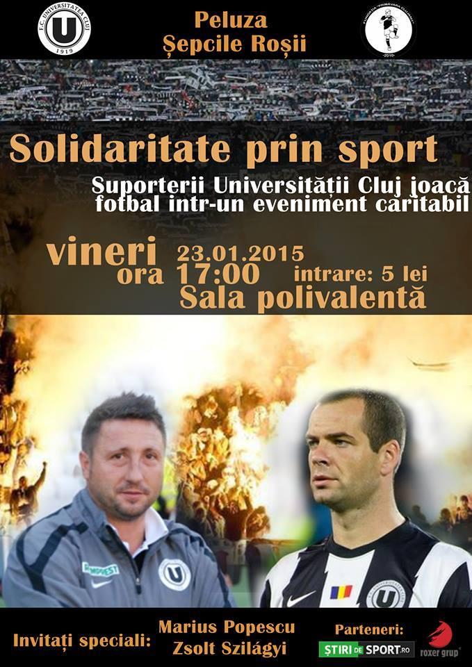 solidaritate prin sport eveniment caritabil U CLuj vineri 23 ian 2015