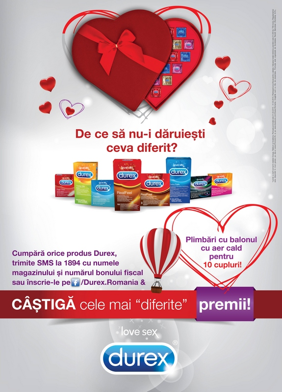De Valentine's Day,  DUREX te invita sa daruiesti un cadou diferit!
