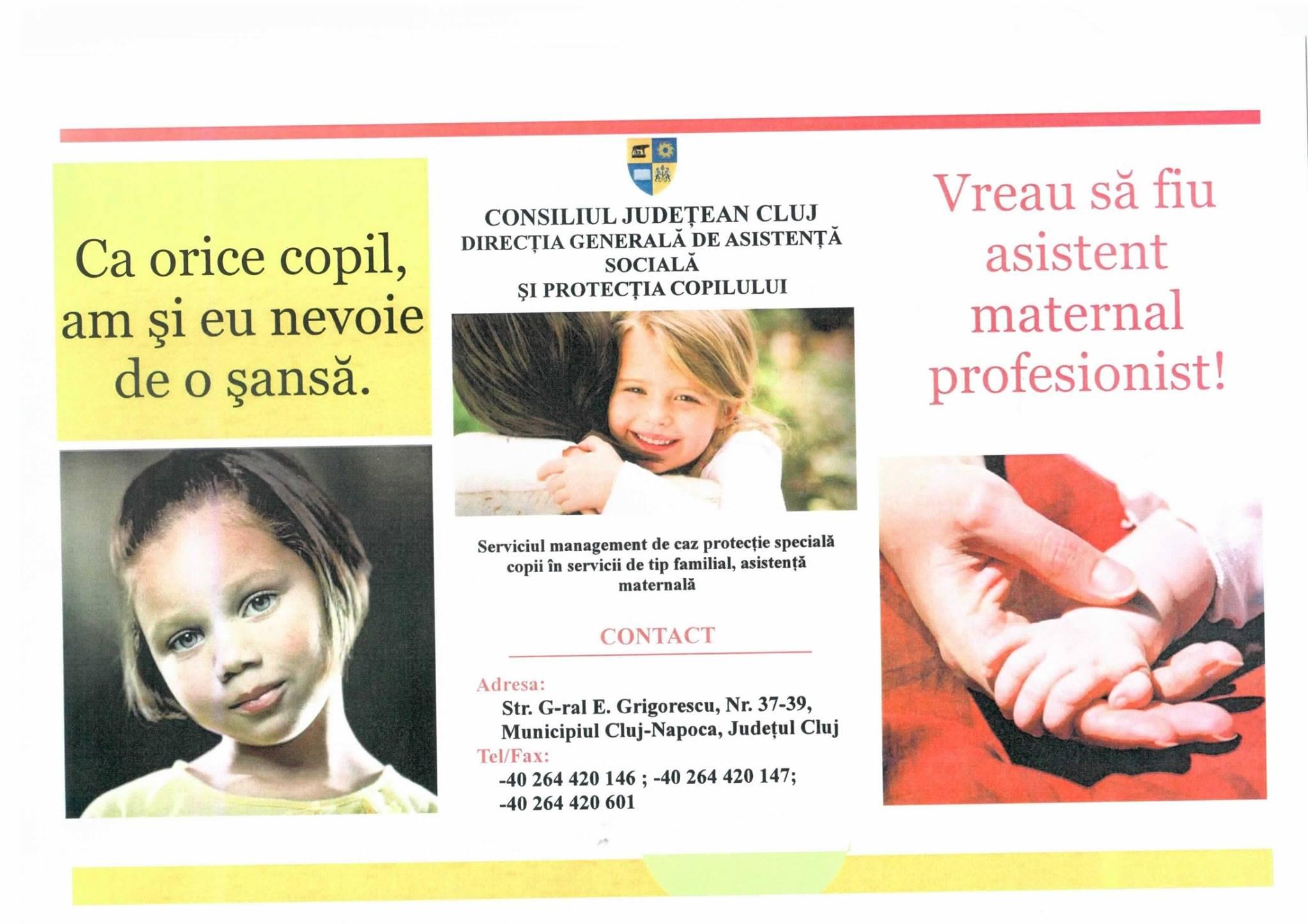 DGASPC Cluj angajează asistenţi maternali