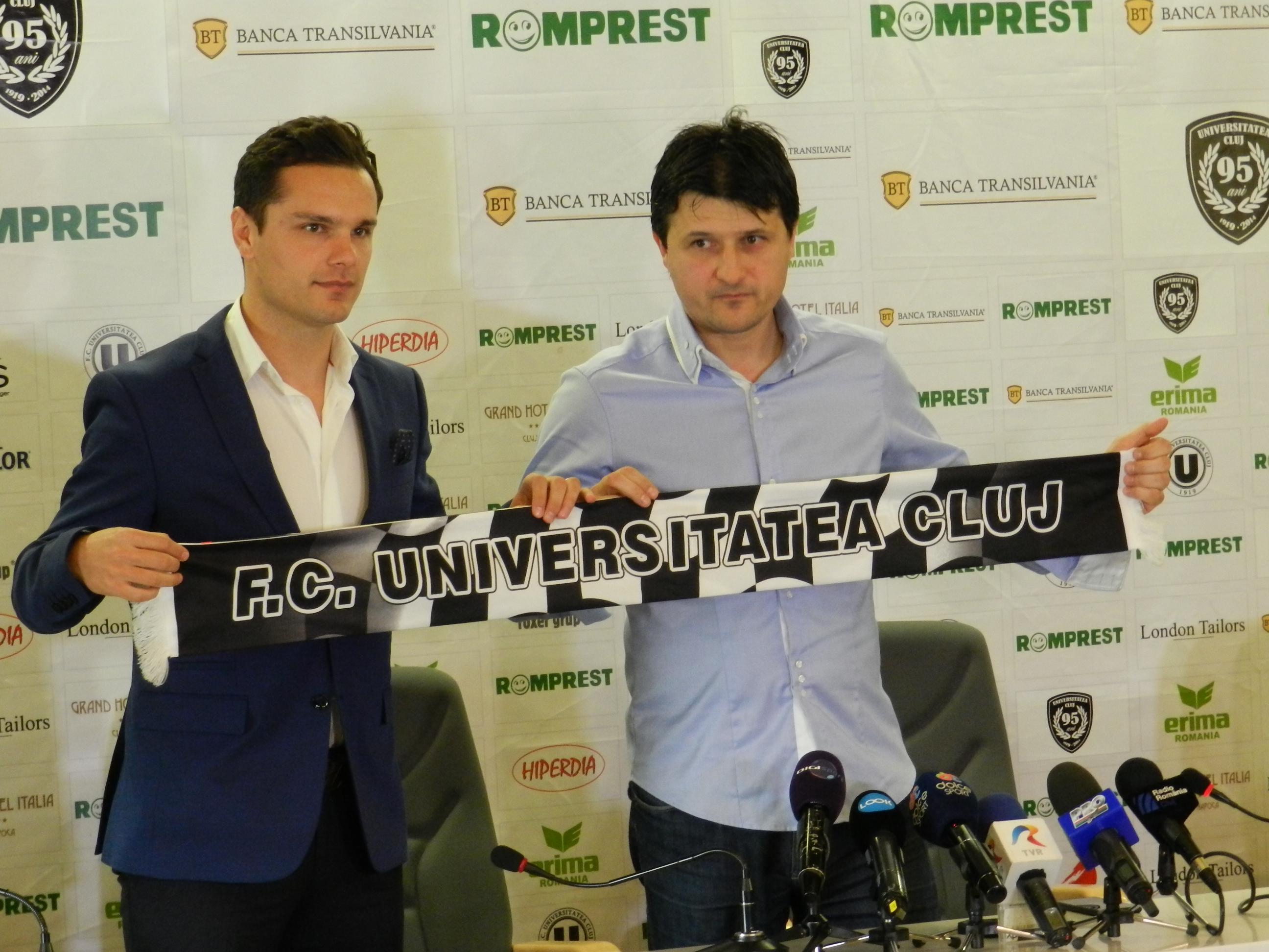 """Adrian Falub, prezentat oficial la """"U"""" Cluj. """"Timpul vorbelor a trecut, avem nevoie de fapte"""""""