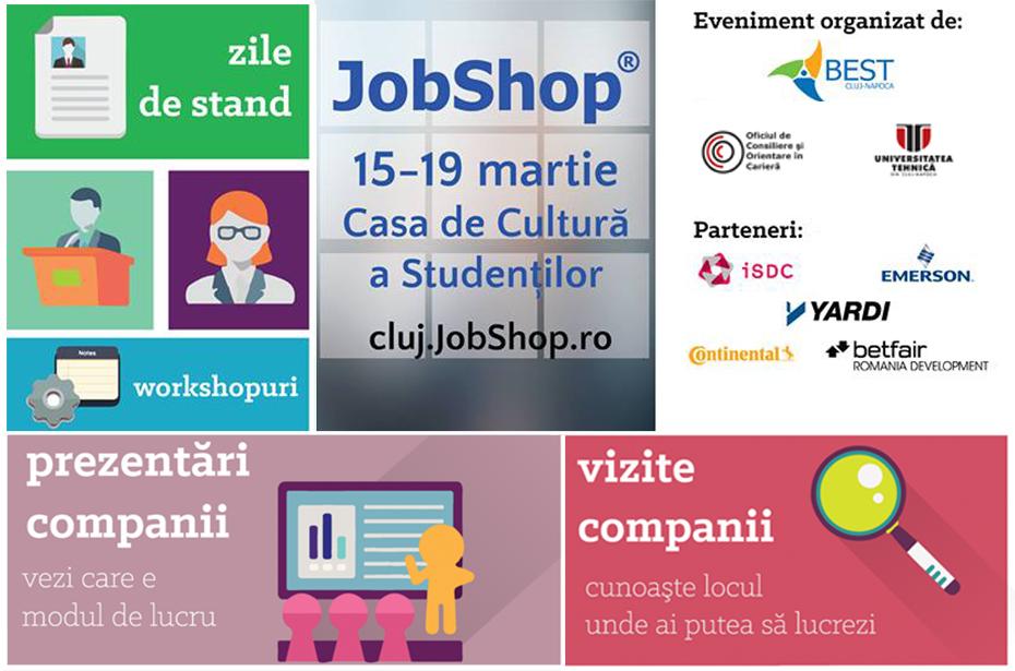 """Începe târgul de joburi """"JobShop 2015"""", la Casa de Cultură a Studenților"""
