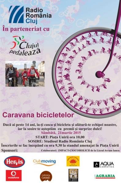 caravana bicicletelor clujul pedaleaza