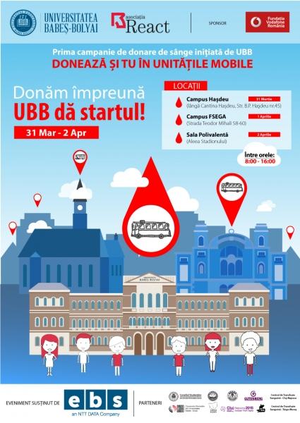 donam impreuna, ubb da startul campanie donare de sange