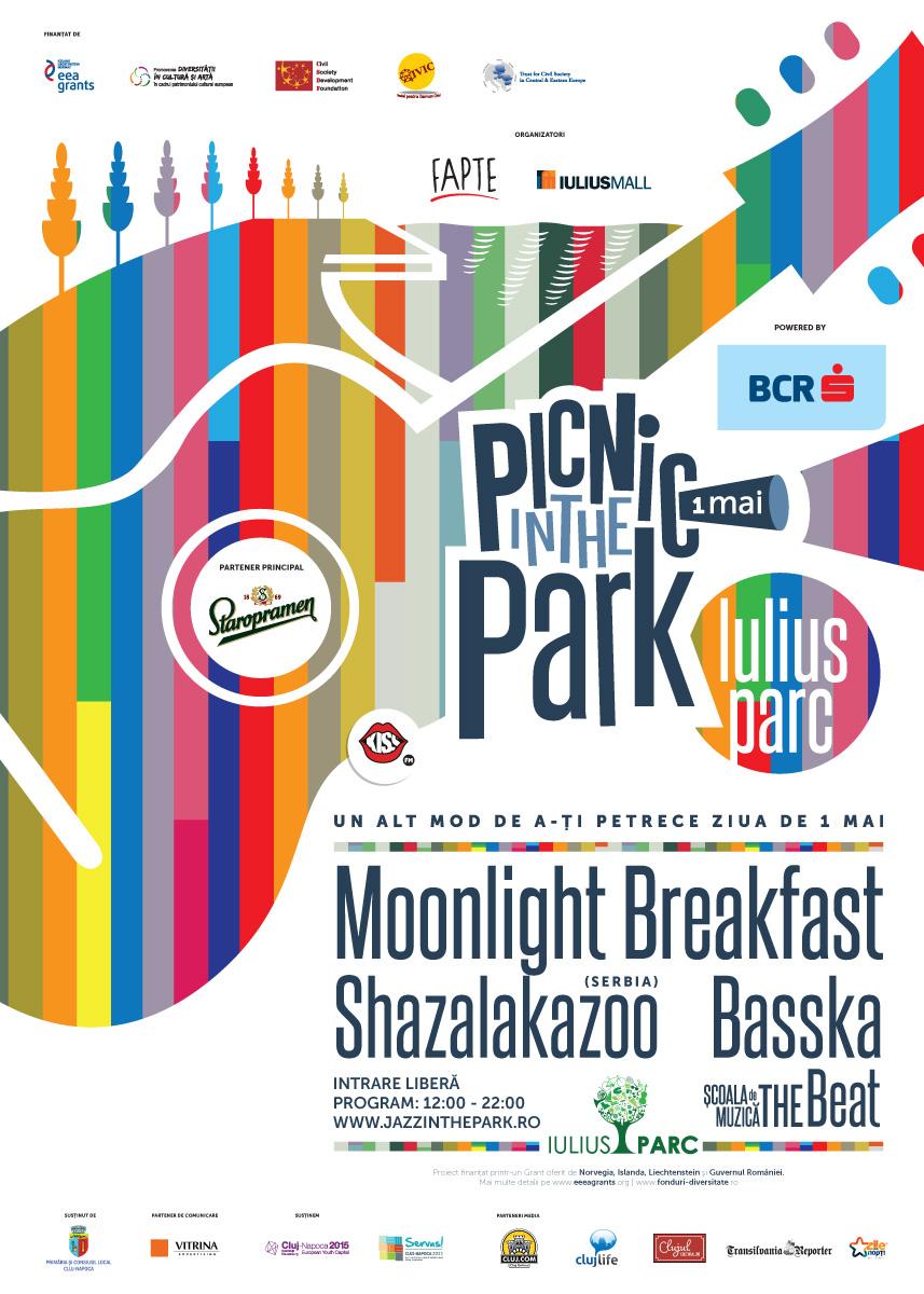 De 1 mai, clujenii sunt invitați la Picnic in the Park, în Iulius Parc