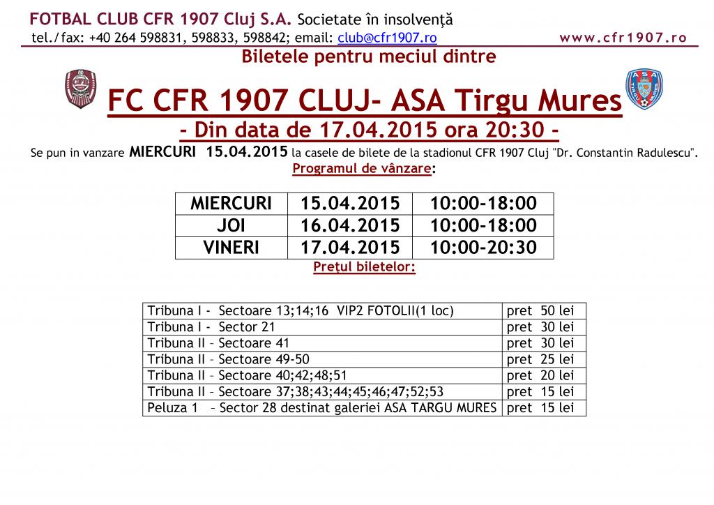 CFR - ASA Tg Mures