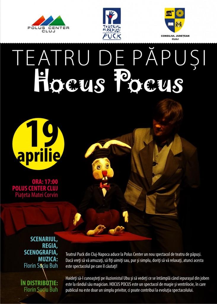 Hocus Pocus - Spectacol de teatru de păpuși  la Polus Center