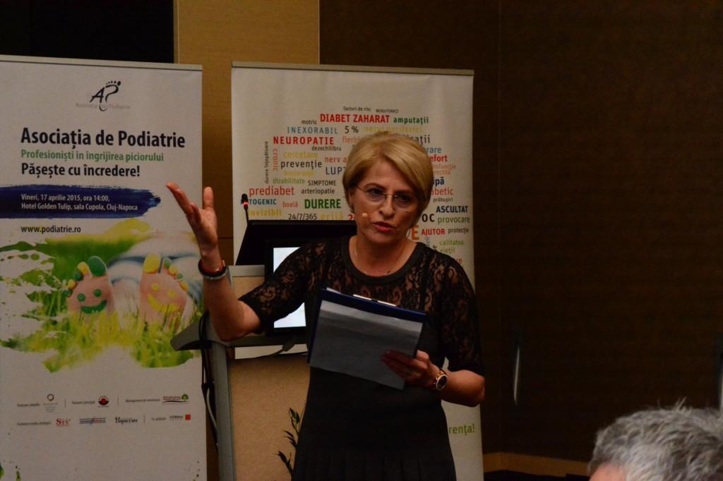 Norina Gavan, presedintele Asociatiei de Podiatrie