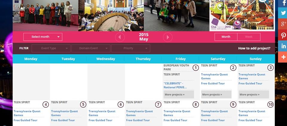 calendar cluj 2015 evenimente