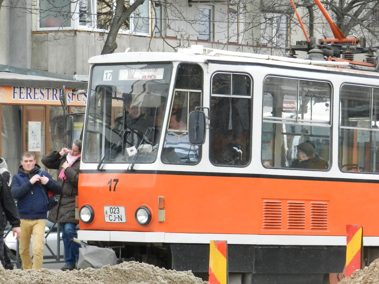 Tramvaiul 102 își modifică programul de luni, 9 ianuarie
