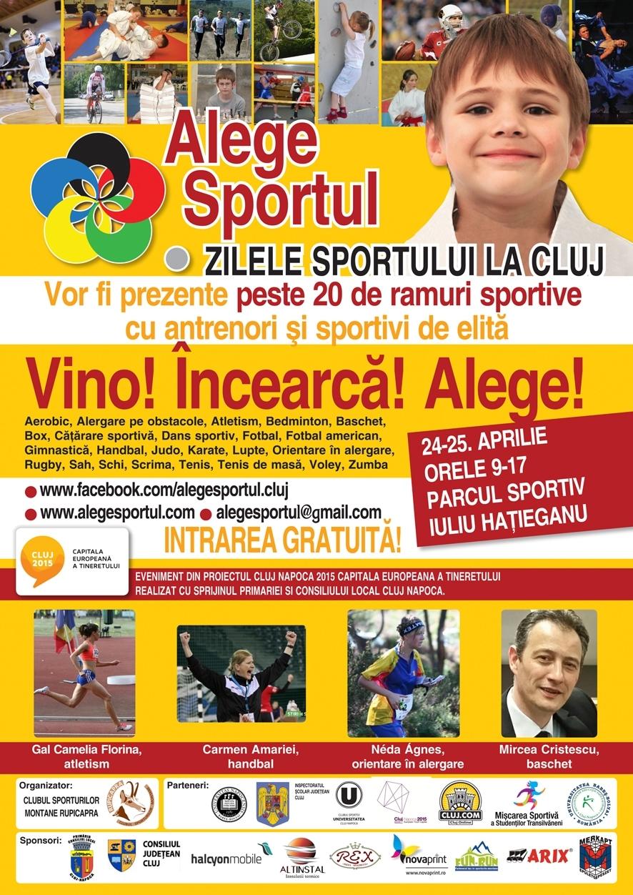 """Sportivii de la CS """"U"""" Cluj vor participa la Zilele Sportului la Cluj"""
