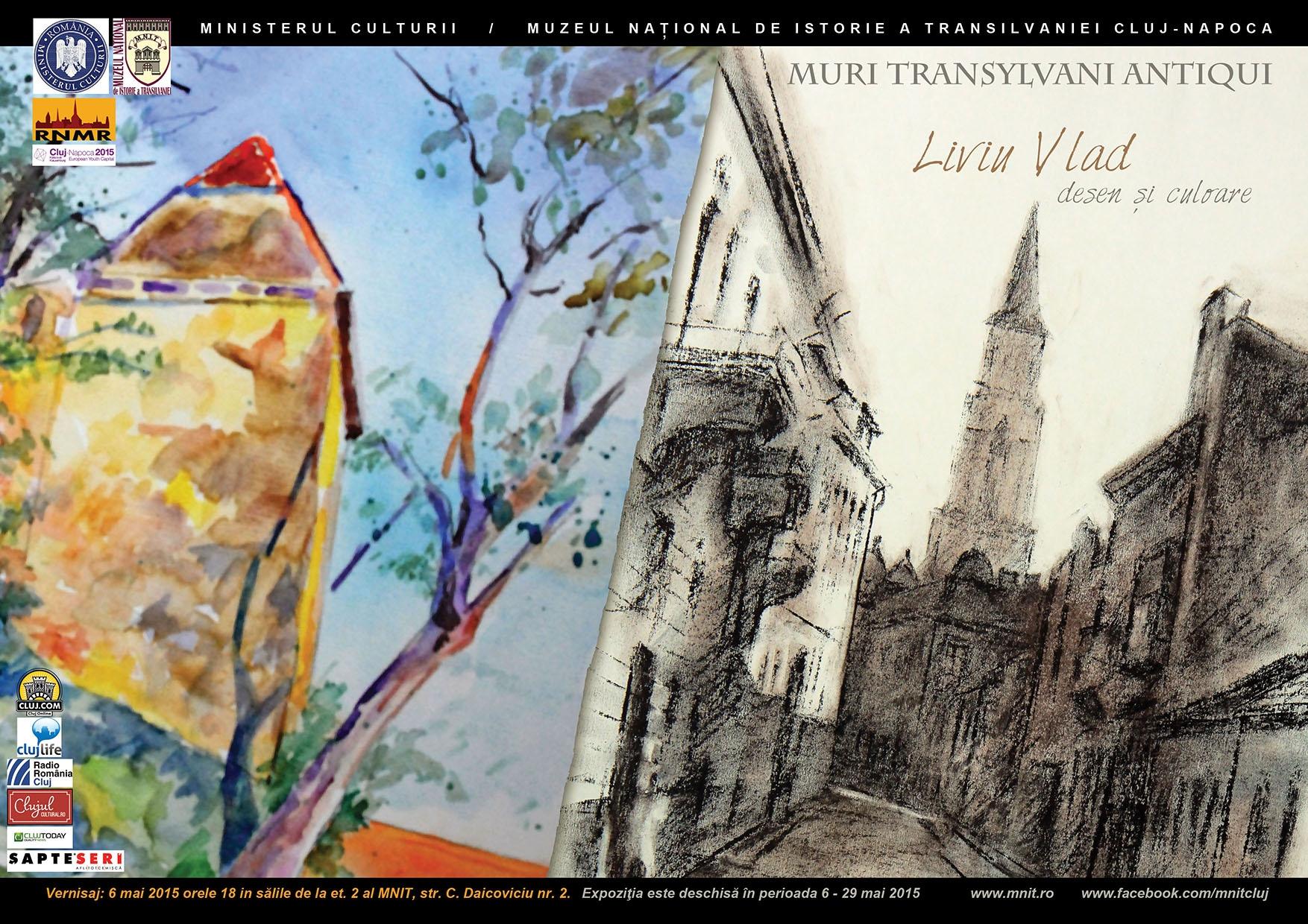 Expoziție de desen semnată Liviu Vlad, la Muzeul Național de Istorie a Transilvaniei