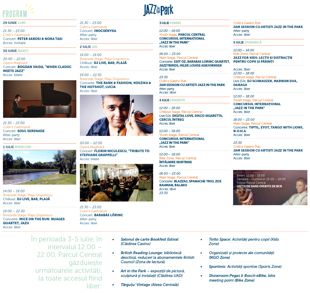 Program Jazz in the Park 2015(1)
