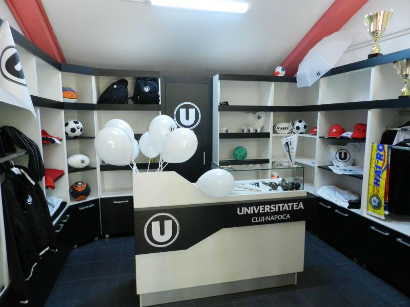 S-a inaugurat primul magazin oficial al CS Universitatea Cluj