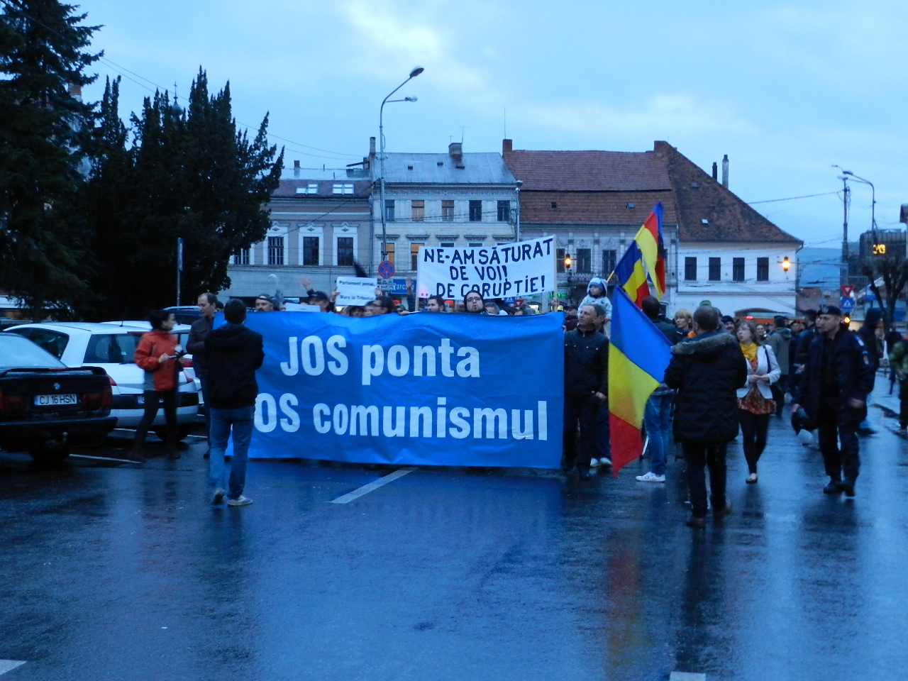 protest anti-ponta cluj