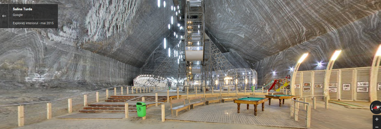 salina turda in google street view