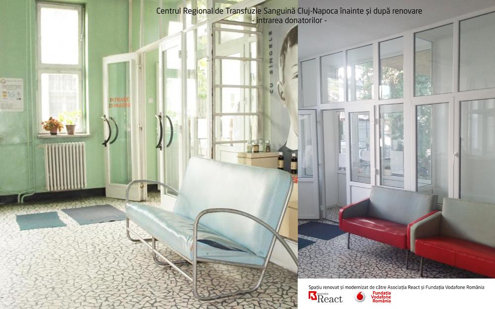 Opt centre de transfuzie sanguina, renovate printr-o investitie a Fundatiei Vodafone Romania