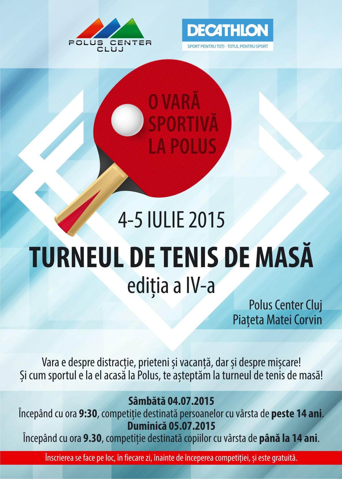 Turneu de tenis de masa la Polus Center - editia a 4-a