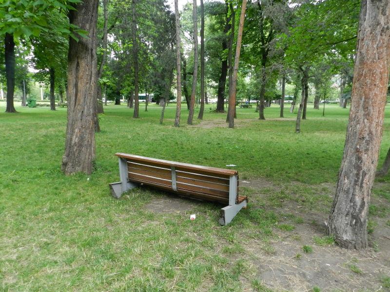 """""""Marea hămăceală"""" are și efecte negative! """"Needucații"""" Clujului au distrus o bancă din Parcul Central – FOTO"""