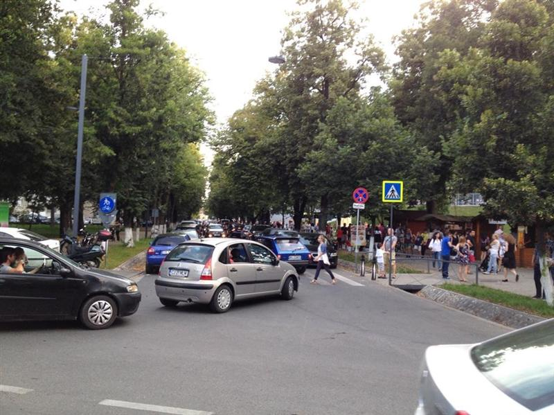 parcul central cluj trafic weekend