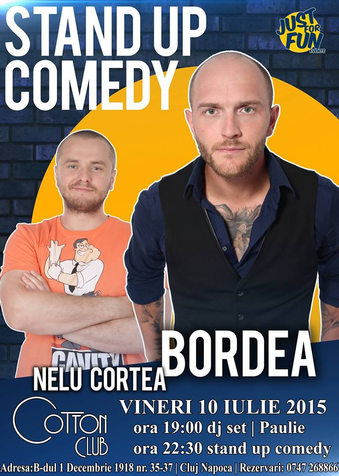 stand up comedy bordea cotton club cluj