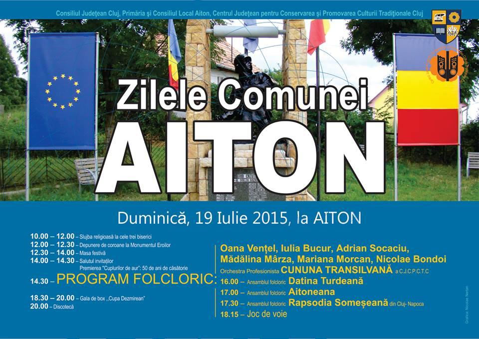 Zilele Comunei Aiton, duminică, 19 iulie!