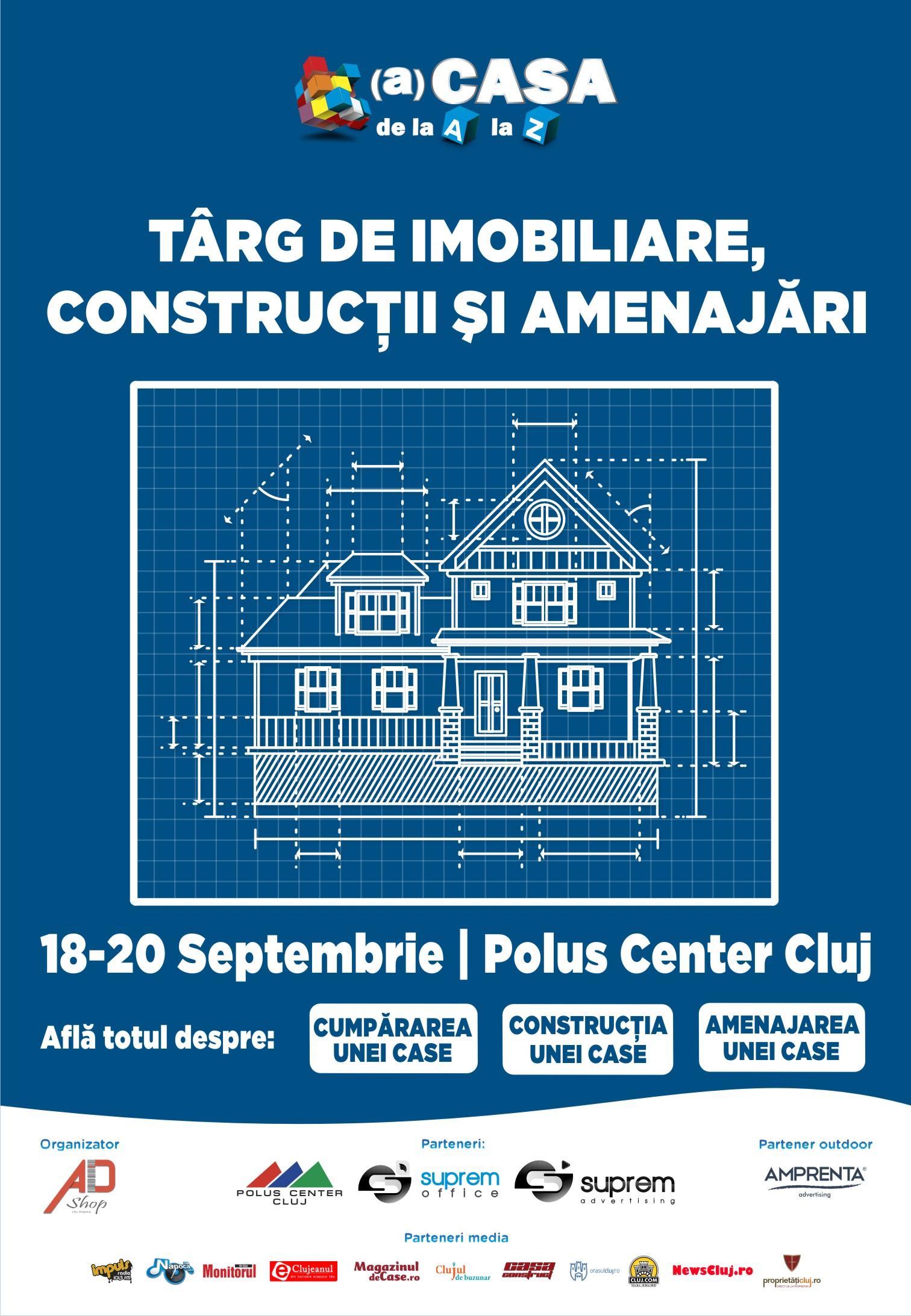 A 6-a ediție a singurului Târg de Imobiliare, Construcții și Amenajări din Cluj-Napoca are loc în weekendul 18-20 Septembrie 2015