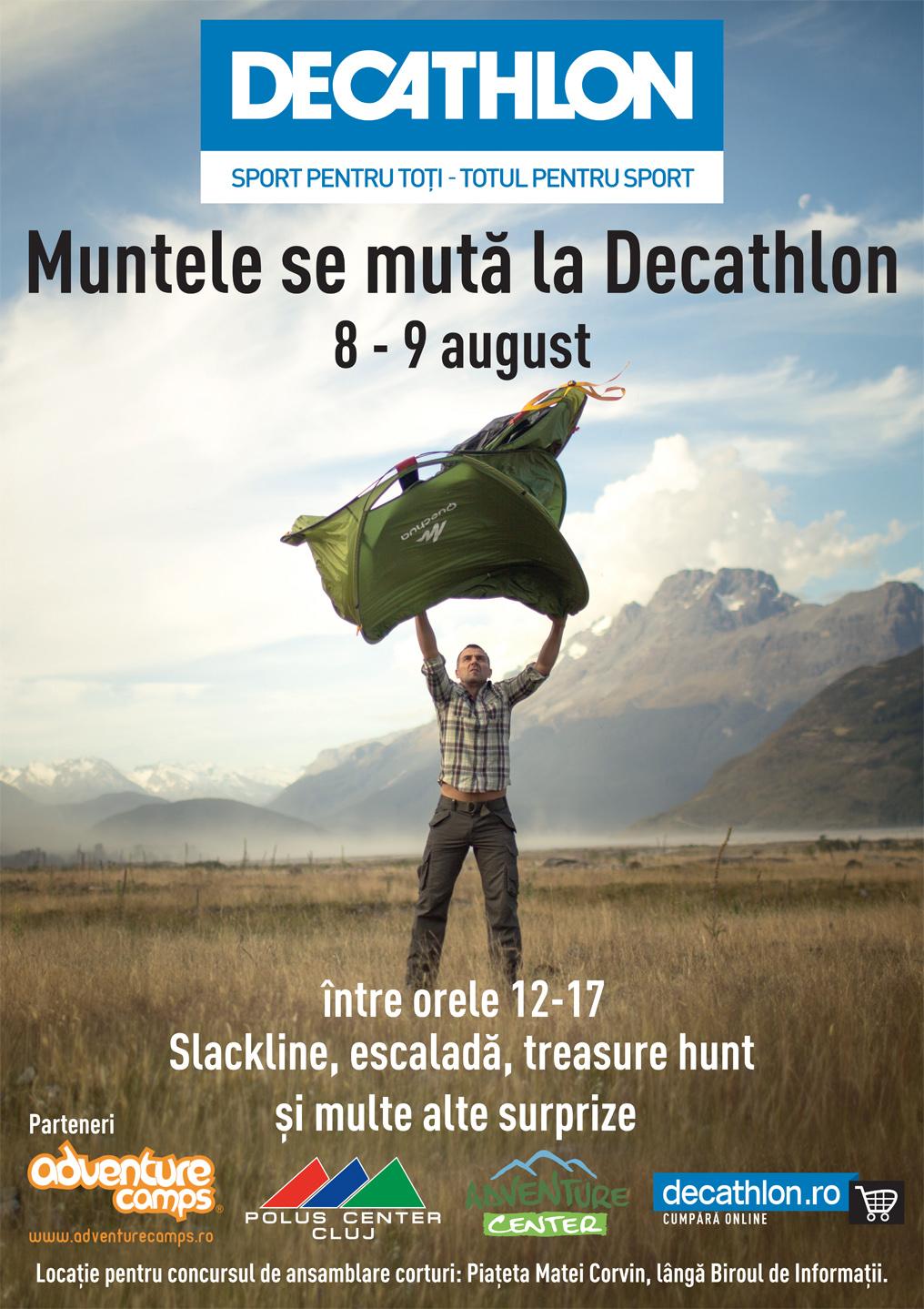 Muntele se mută la Decathlon