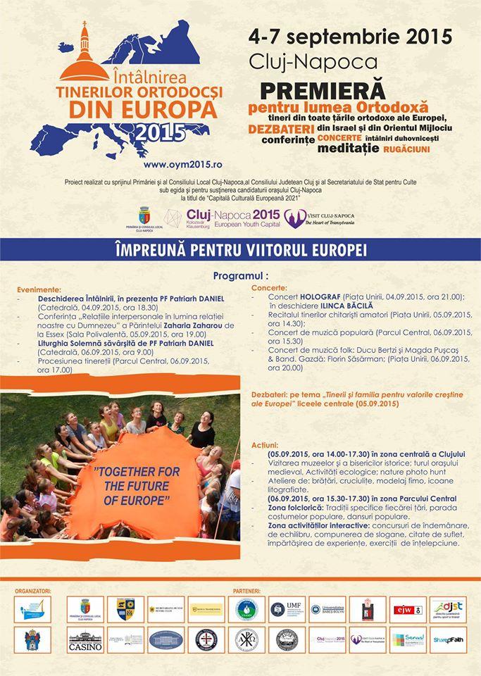 """Peste 5.000 de tineri credincioși sunt așteptați la Cluj, la """"Întâlnirea tinerilor ortodocși din Europa"""""""