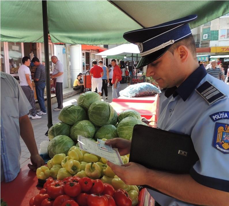 O razie a polițiștilor clujeni în trafic la Turda s-a lăsat cu 700 de kilograme de legume confiscate