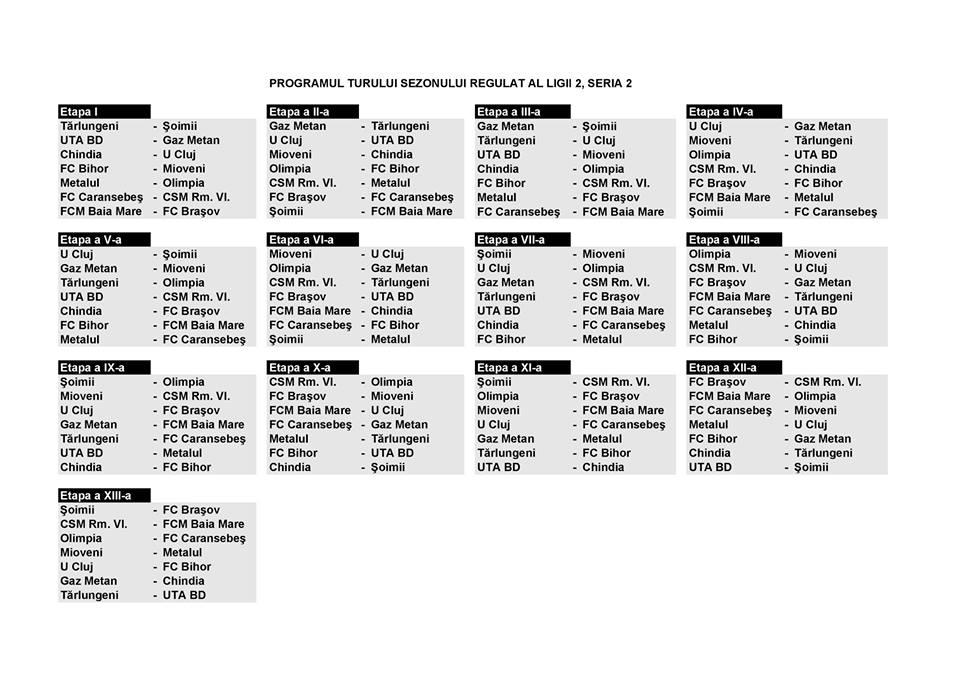 program liga 2 seria 2 sezon 2015-2016