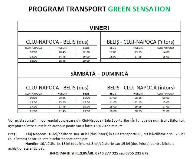 program transport green sensation 2015