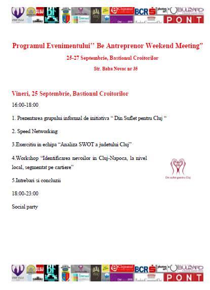 program be antreprenor weekend meeting