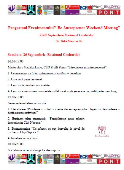 program be antreprenor weekend meeting2