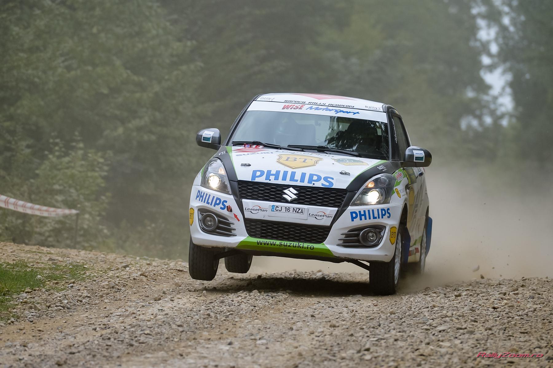 Simone Tempestini și Napoca Rally Academy sunt lideri la jumătatea Raliului Iașului