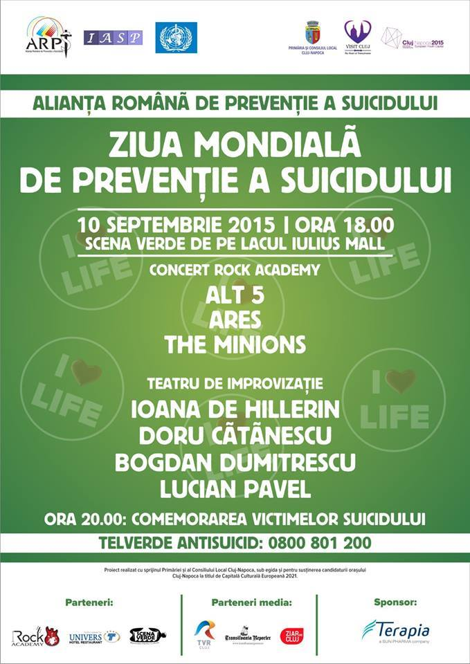ziua mondiala de preventie a suicidului iulius parc 10 sept