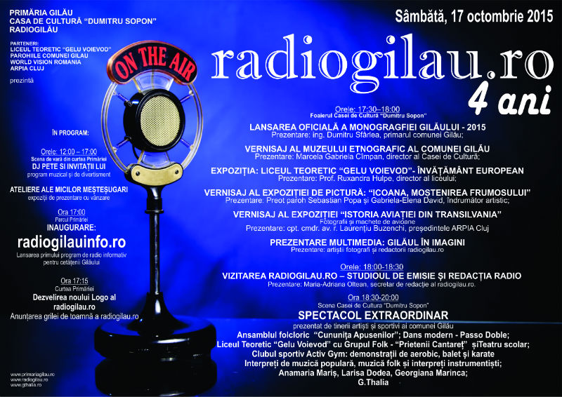 Afis Radiogilau 4 ani 2015