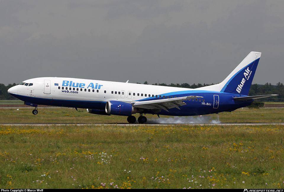 blue air aeroport cluj