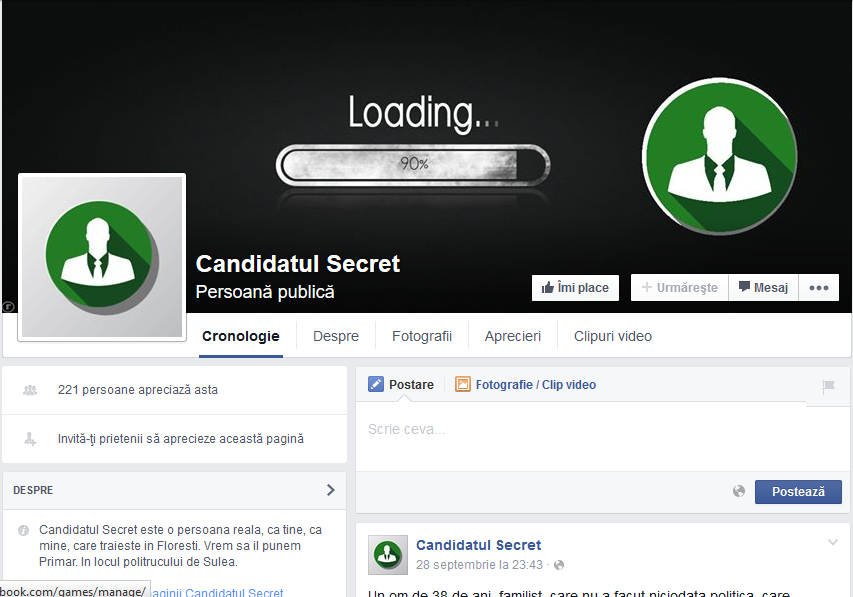 candidatul secret floresti facebook